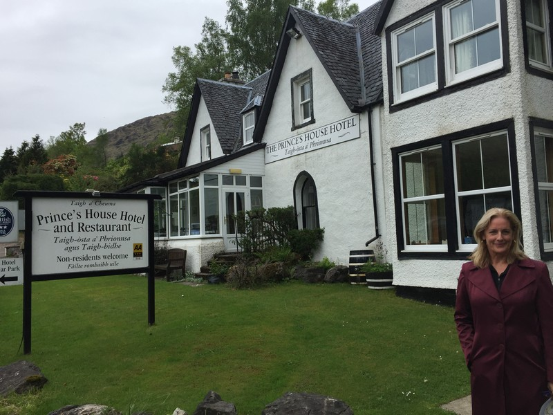 The Prince's House Hotel in Glenfinnan, Scotland