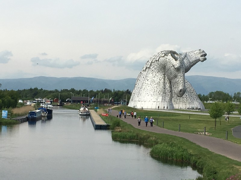 The Kelpies near Falkirk, Scotland