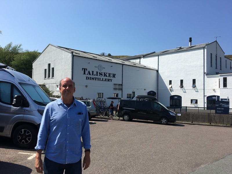Talisker Distillery on the Isle of Skye, Scotland