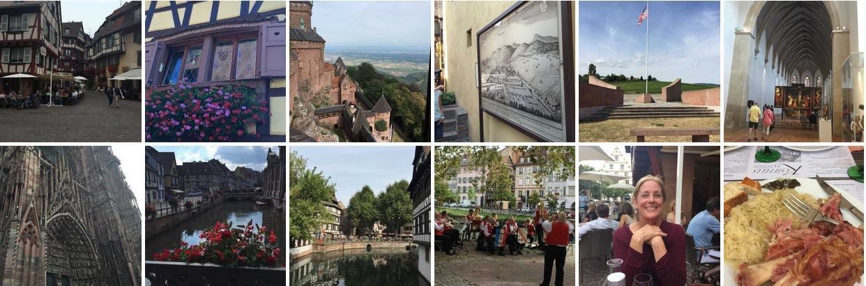 Montage of Alsace, France
