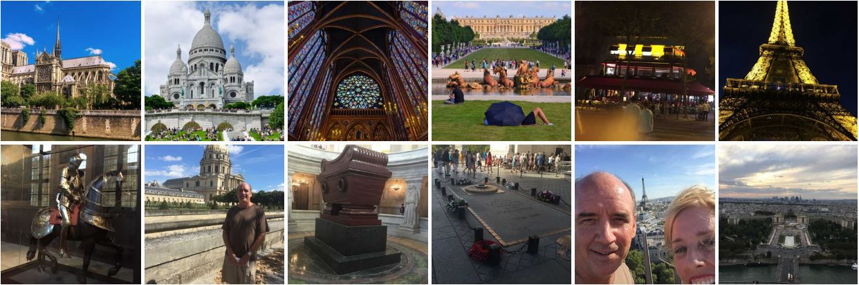 Montage of Sites in Paris, France